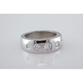 Custom Flush Set Diamond Ring