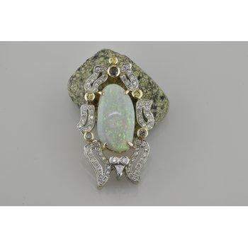 Custom Opal and Diamond Pendant