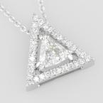 Faini Faini Custom Triangle Halo Pendant
