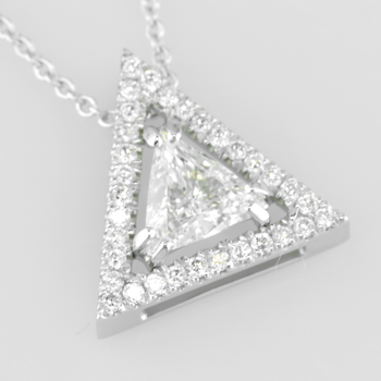 Faini Custom Triangle Halo Pendant