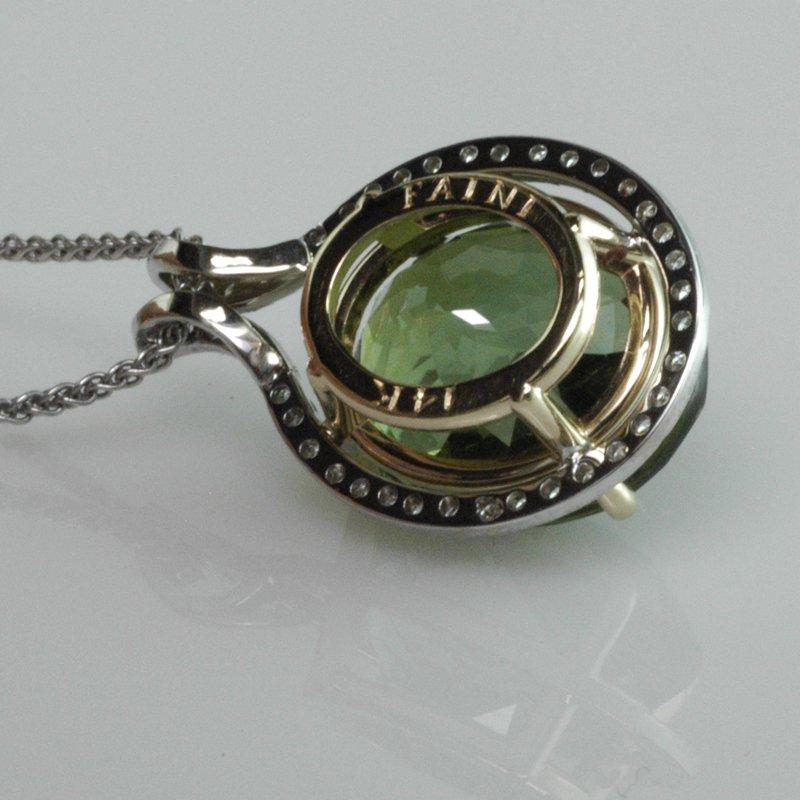 Faini Green Tourmaline Pendant