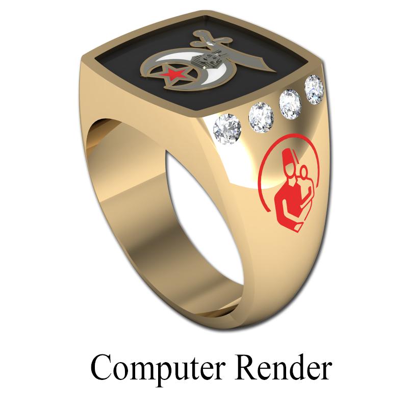 Shriner Jewelry Shrine Ring Style 1500