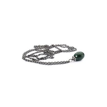 Silver Fantasy Necklace with Malachite