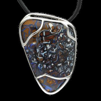 Custom Boulder Opal Pendant