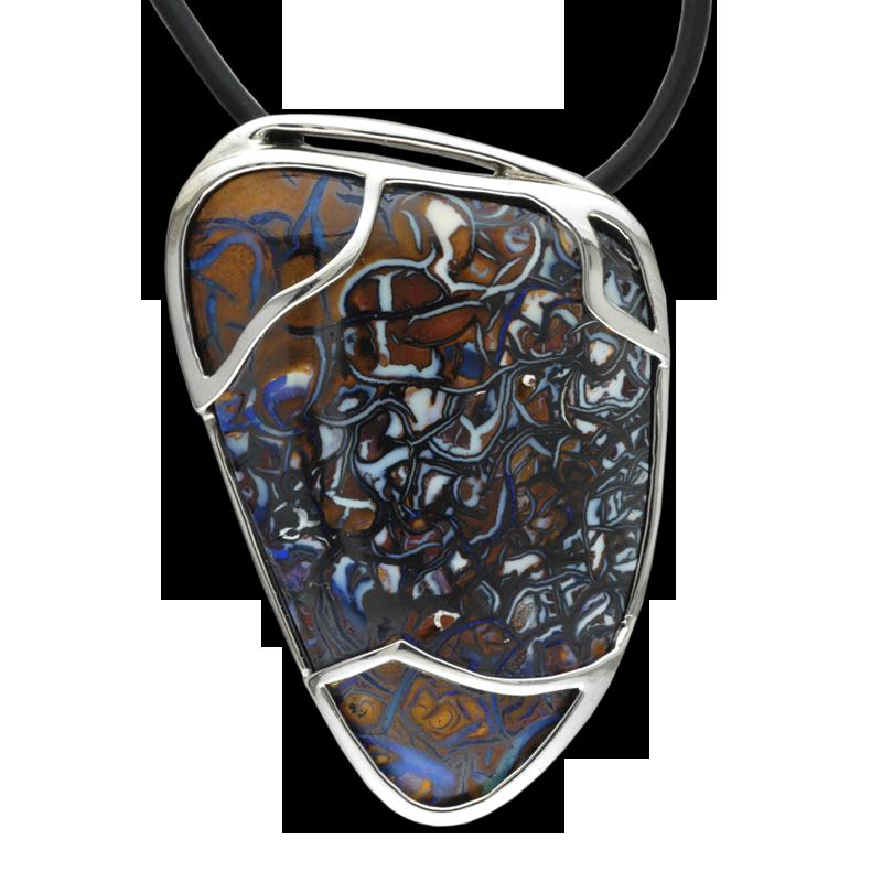 Faini Custom Boulder Opal Pendant