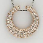 Faini Crescent Shaped Pave Diamond Pendant