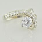 Faini Custom 14k White and Rose Gold Ring