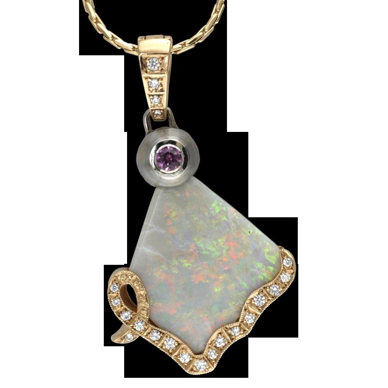 Faini Custom Opal Pendant