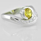 Faini Faini Custom Yellow Chatham Sapphire Ladies Ring