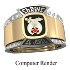 Shriner Jewelry Shrine Ring Style 1900