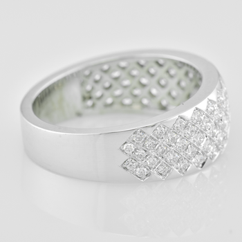 Custom Ladies Pave Diamond Ring