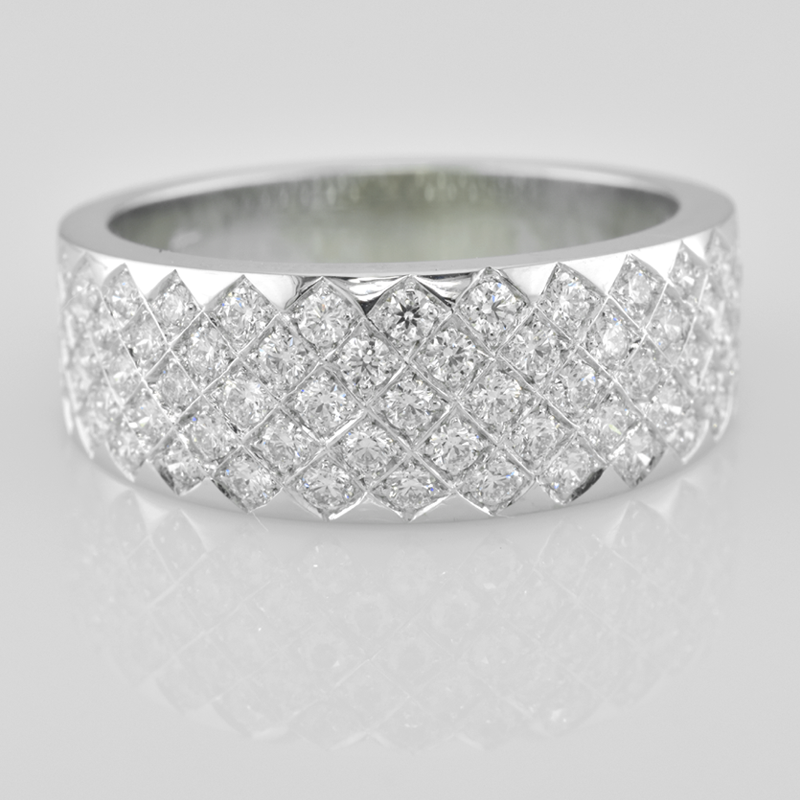 Faini Custom Ladies Pave Diamond Ring