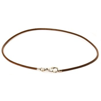 Leather Necklace Brown