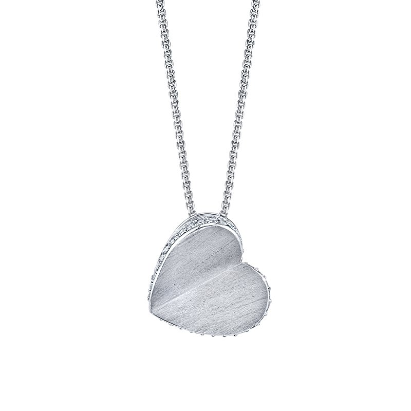 Greenberg's sterling silver heart pendant