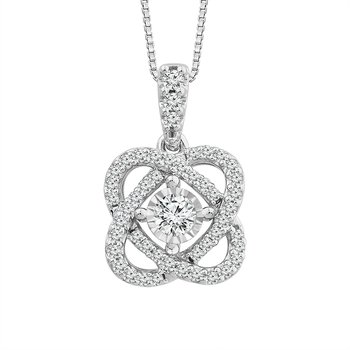 "sterling silver ""only you"" collection diamond pendant"