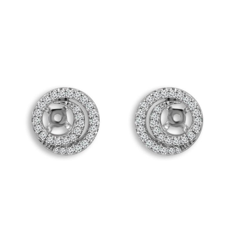Greenberg's 14k white gold 3/8ctw diamond earring jackets