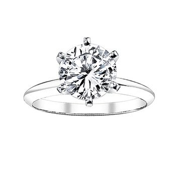 2 ct round solitaire engagement ring