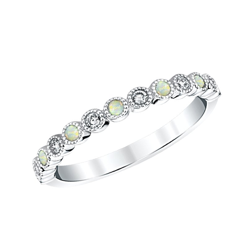 Greenberg's 14k white gold opal birthstone ring