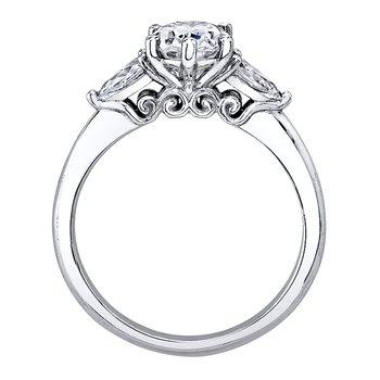 14k white gold 3/8ctw diamond semi-mount engagement ring