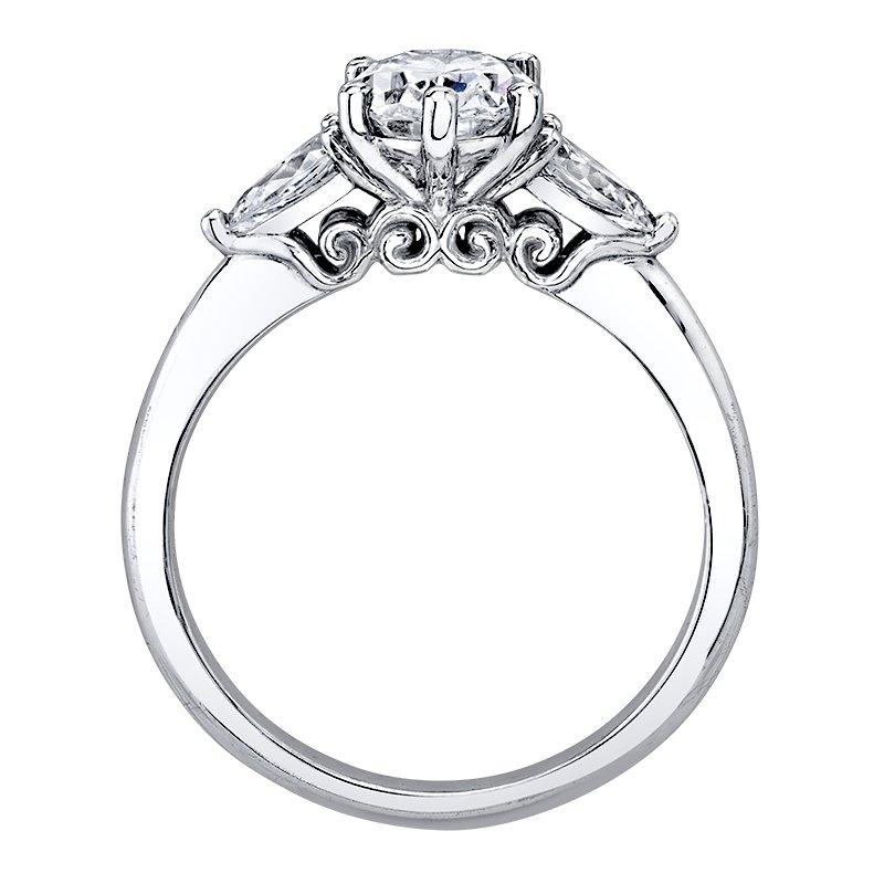 Love Story 14k white gold 3/8ctw diamond semi-mount engagement ring