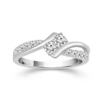 14k white gold 2ctw twogether ring