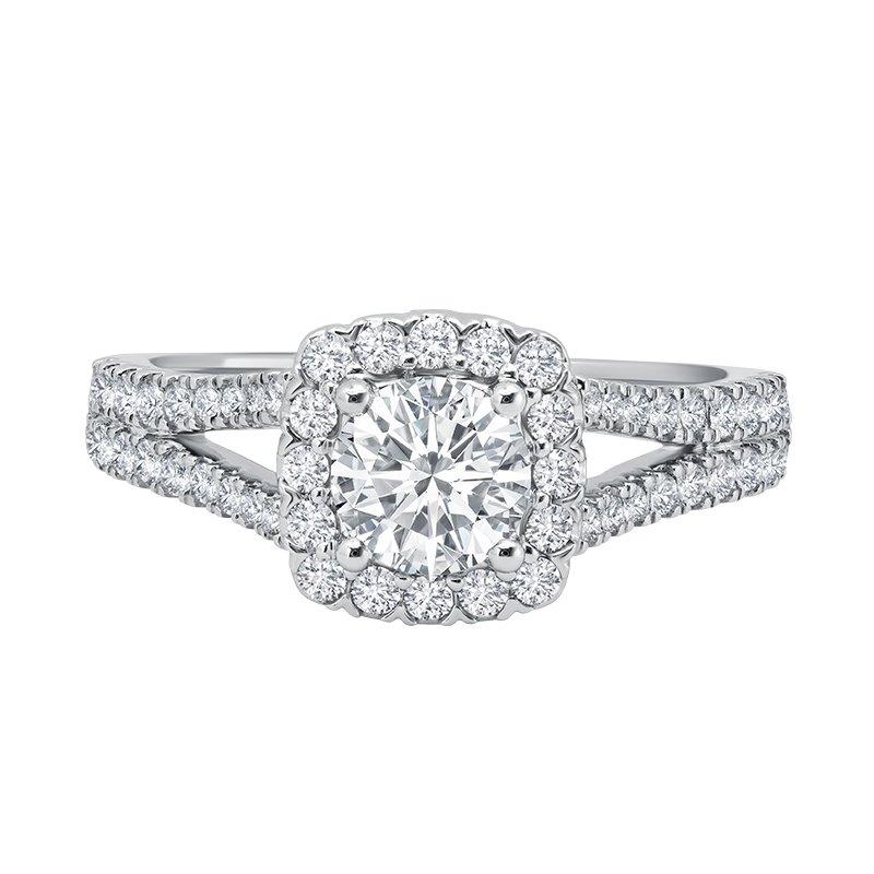 Greenberg's 14k white gold proposal engagement ring