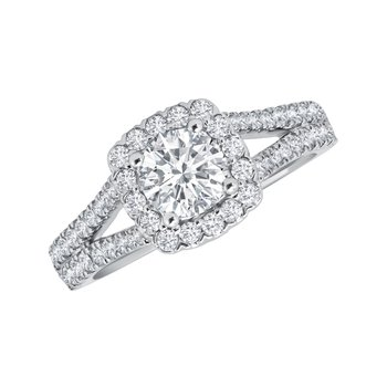 14k white gold proposal engagement ring