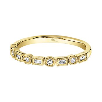 14K YG 0.14ctw Ladies Diamond Band