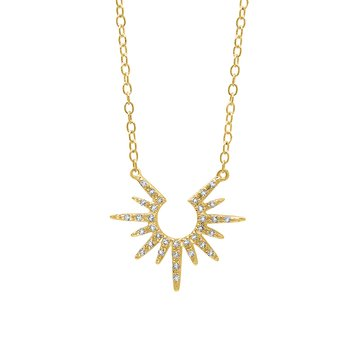 10k yellow gold sun pendant