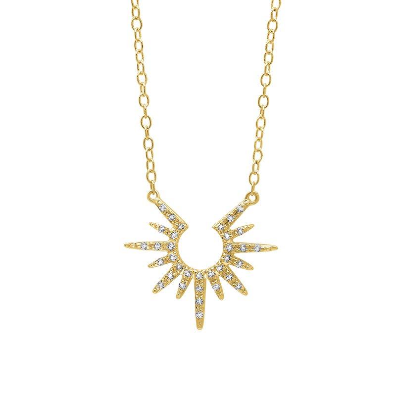 Greenberg's 10k yellow gold sun pendant