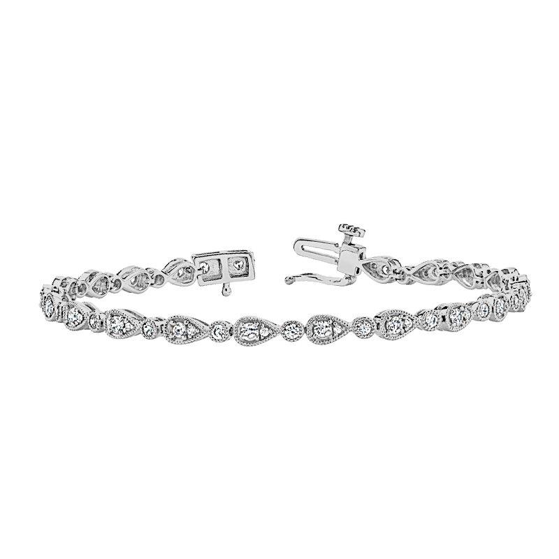 Greenberg's 14k white gold diamond bracelet