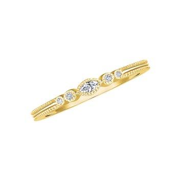 14k yellow gold .06ctw diamond fashion ring