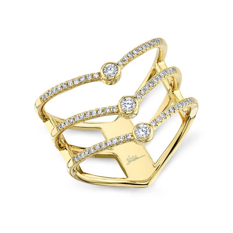 Shy Creation 0.30ct 14k Yellow Gold Diamond Lady's Ring
