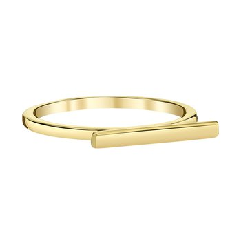 14k yellow gold horizontal bar fashion ring