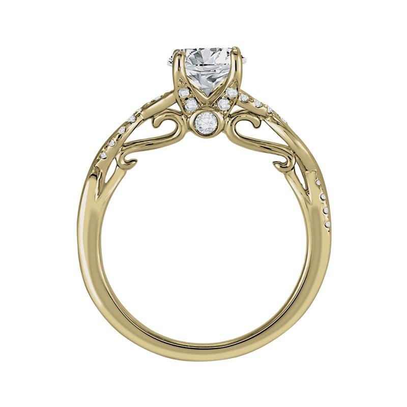Greenberg's 14k yellow gold 1/5ctw semi mount twist engagement ring
