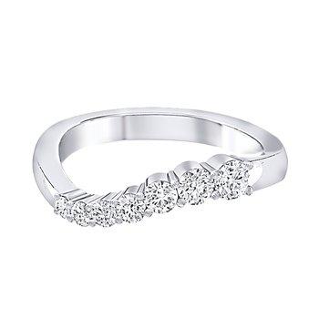 14k WG 1/2ctw diamond journey ring.