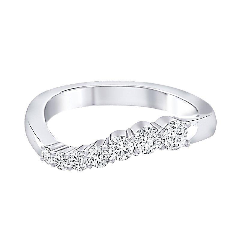 Greenberg's 14k WG 1/2ctw diamond journey ring.