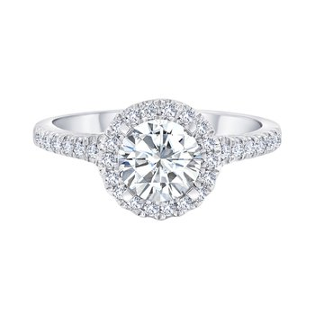14k white gold 3/8ctw semi mount engagement ring