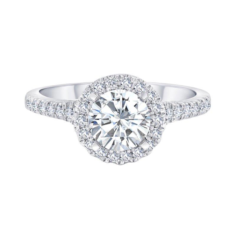 Greenberg's 14k white gold 3/8ctw semi mount engagement ring