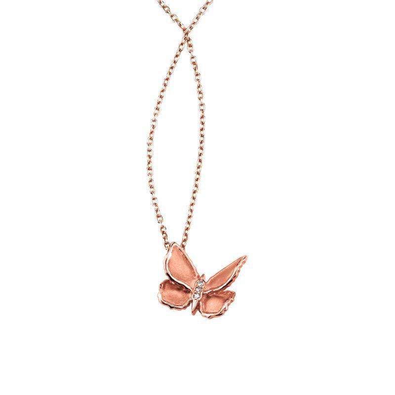 Greenberg's 10k rose gold butterfly pendant