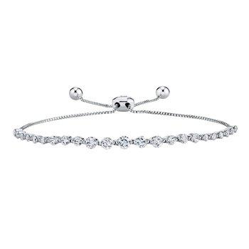 14k white gold 1.33ctw diamond bolo bracelet