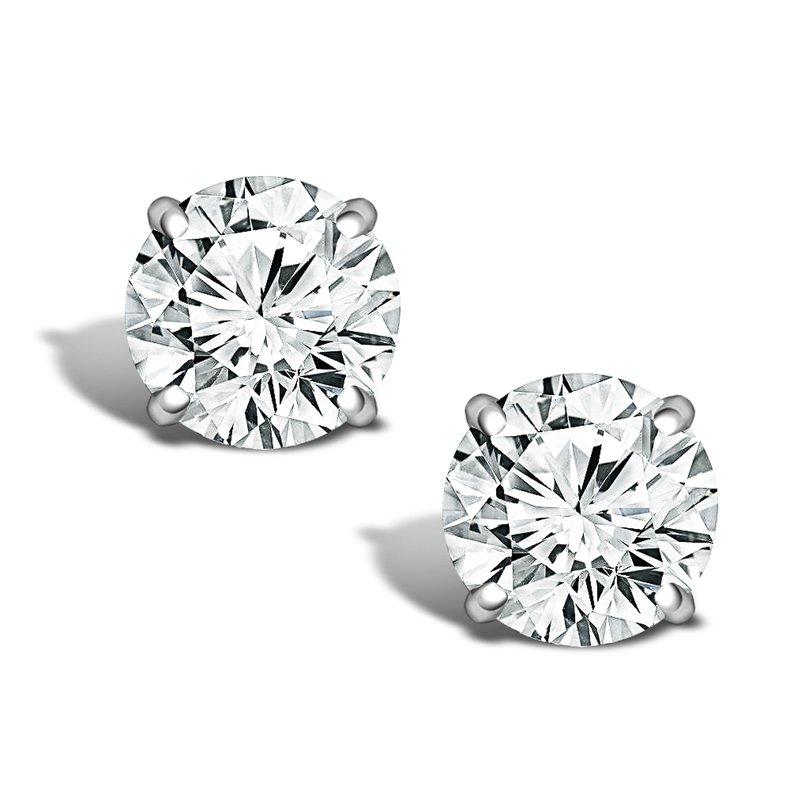 Greenberg's 2ct round stud diamond earrings