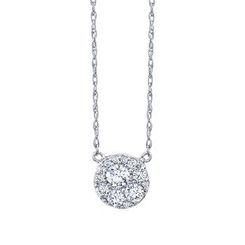 10k white gold 1/4ctw diamond pendant