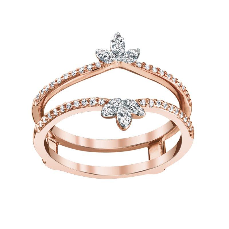Greenberg's 14k pink gold 1/5ctw diamond ring enhancer