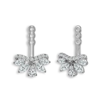 14k white gold 3/4ctw diamond earring jackets