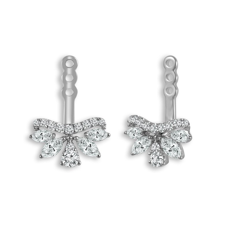 Greenberg's 14k white gold 3/4ctw diamond earring jackets