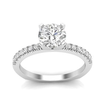 14k white gold 1/4ctw semi-mount engagement ring