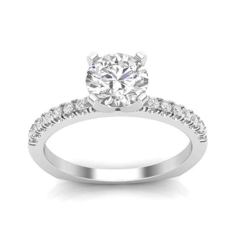 Greenberg's 14k white gold 1/4ctw semi-mount engagement ring
