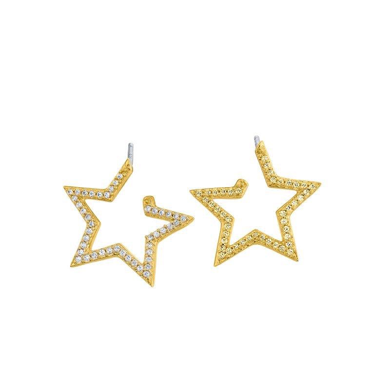 Greenberg's 10k yellow gold star earrings