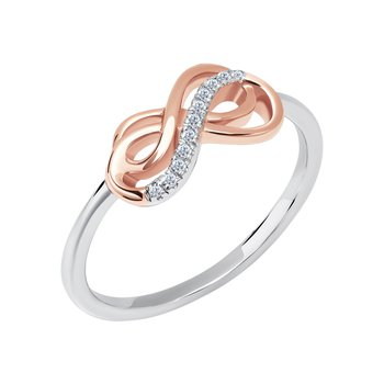 10k white gold with micron pink plating eternity ring